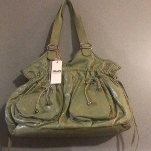 Uniquely beautiful sage colored TANO hobo bag